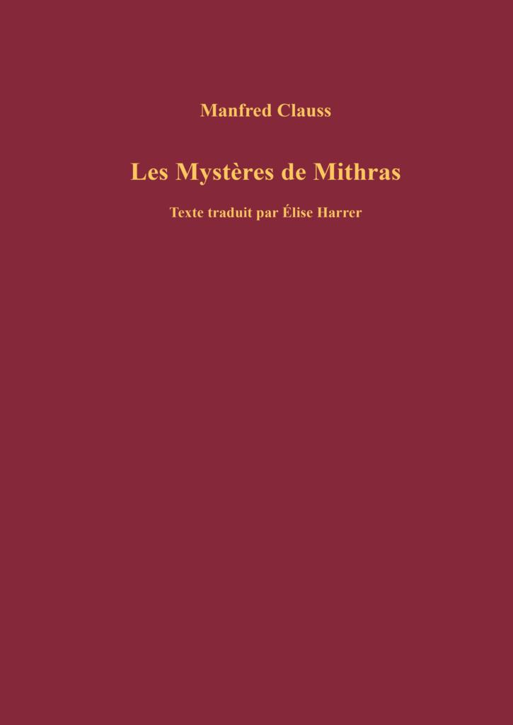 Clauss, Mystères de Mithras
